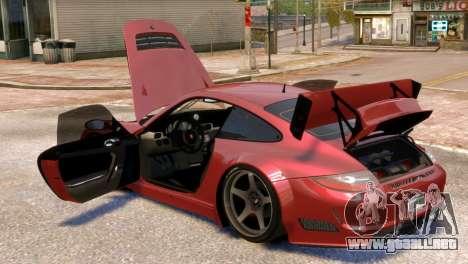 Porsche 911 GT3RSR para GTA 4 vista lateral