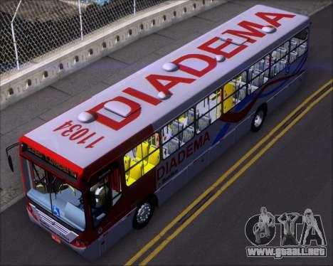 Comil Svelto 2008 Volksbus 17-2 Benfica Diadema para GTA San Andreas vista hacia atrás