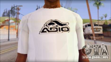 Adio T-Shirt para GTA San Andreas tercera pantalla