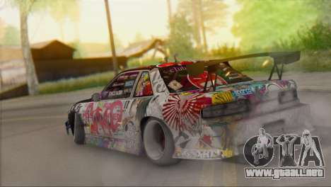 Nissan S13 MAD DRIFT para GTA San Andreas left