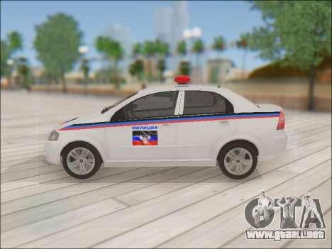 Chevrolet Aveo Policía no molestar para GTA San Andreas left