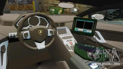 Lamborghini Aventador LP700-4 v2 [RIV] para GTA 4 vista hacia atrás