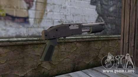 Sawnoff Shotgun from GTA 5 v2 para GTA San Andreas segunda pantalla