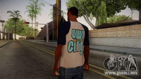 Owl City T-Shirt para GTA San Andreas segunda pantalla