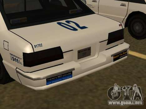 Police Original Cruiser v.4 para la vista superior GTA San Andreas