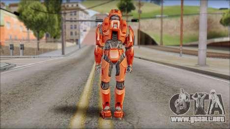 Masterchief Red from Halo para GTA San Andreas segunda pantalla