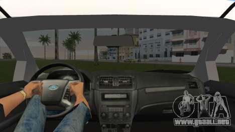 Ford Fusion 2009 para GTA Vice City vista lateral izquierdo