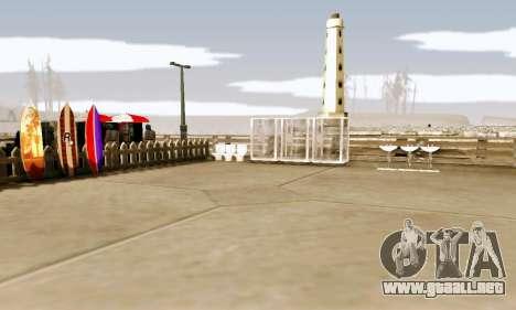New Santa Maria Beach v1 para GTA San Andreas tercera pantalla