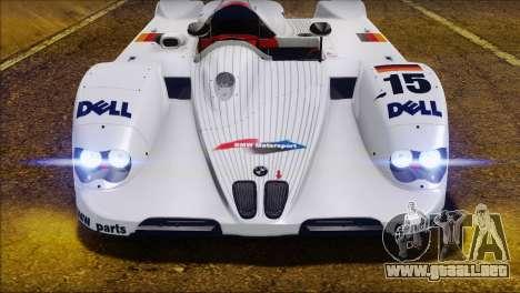 BMW 14 LMR 1999 para visión interna GTA San Andreas