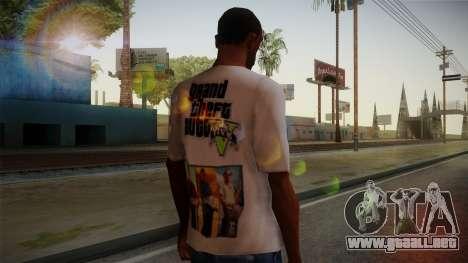 GTA 5 MFT T-Shirt para GTA San Andreas segunda pantalla