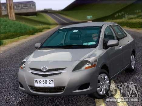 Toyota Yaris 2008 Sedan para GTA San Andreas left