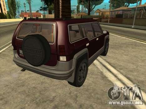 Landstalker from GTA 3 para GTA San Andreas left