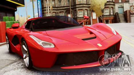 Ferrari LaFerrari Spider para GTA 4 Vista posterior izquierda