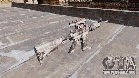 Automático carabina MA Ártico Camo para GTA 4 segundos de pantalla