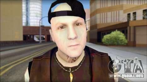 Benji from Good Charlotte para GTA San Andreas tercera pantalla