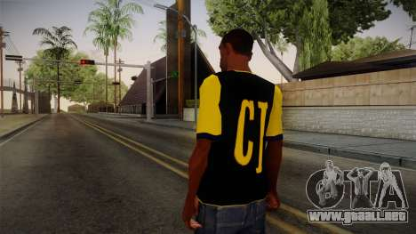 Black & Yellow T-Shirt para GTA San Andreas segunda pantalla