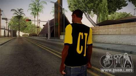 Black & Yellow T-Shirt para GTA San Andreas segunda pantalla
