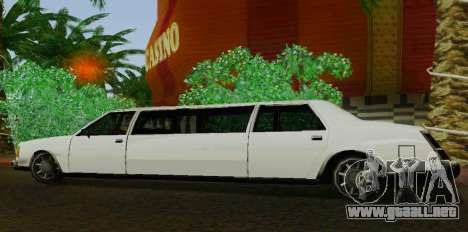 Washington Limousine para GTA San Andreas left