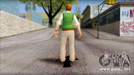 Earnest from Bully Scholarship Edition para GTA San Andreas tercera pantalla