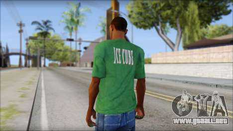 Ice Cube T-Shirt para GTA San Andreas segunda pantalla