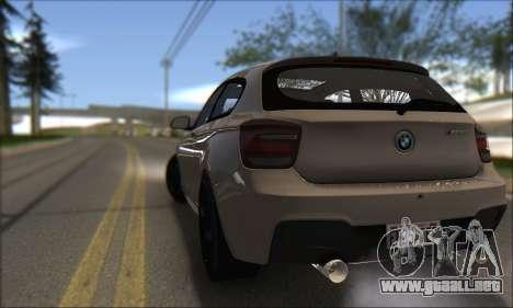 BMW M135i para GTA San Andreas vista posterior izquierda