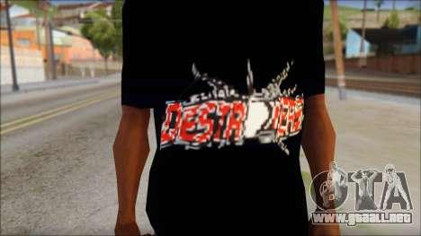 Destroyers T-Shirt Mod para GTA San Andreas tercera pantalla