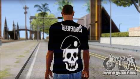The Expendables Fan T-Shirt v1 para GTA San Andreas segunda pantalla