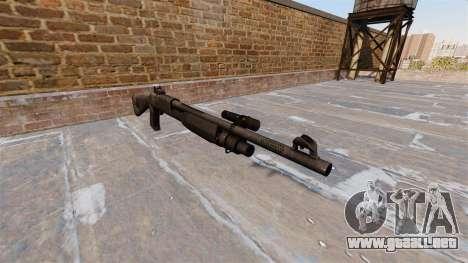 Ружье Benelli M3 Super 90 kryptek tifón para GTA 4
