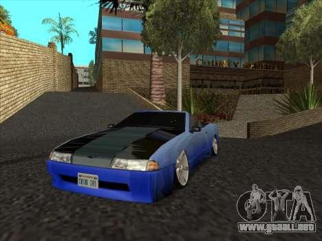 Elegy Cabrio HD para GTA San Andreas vista hacia atrás