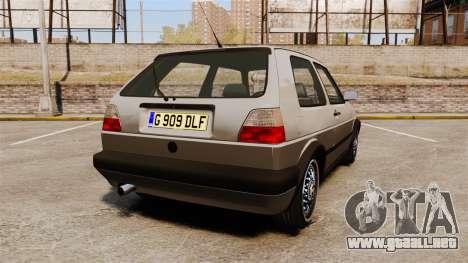 Volkswagen Golf GTI Mk2 para GTA 4 Vista posterior izquierda