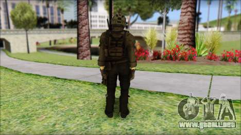 Roach Anderson in Dark Suit from MW2 para GTA San Andreas segunda pantalla