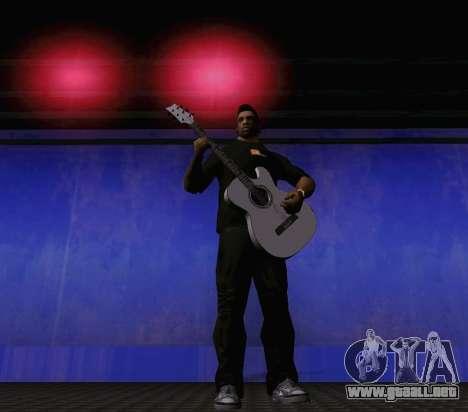 Canciones de Viktor Tsoi guitarra para GTA San Andreas quinta pantalla