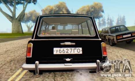 VAZ 2102 Escorrentía para la vista superior GTA San Andreas