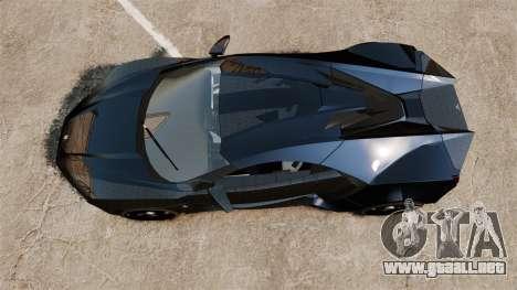 Lykan HyperSport Black para GTA 4 visión correcta