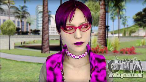 Rock Chicks Purple Ped para GTA San Andreas tercera pantalla