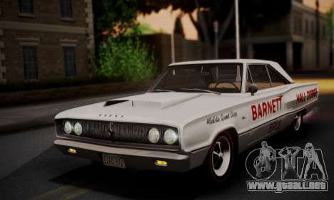 Dodge Coronet 440 Hardtop Coupe (WH23) 1967 para vista inferior GTA San Andreas