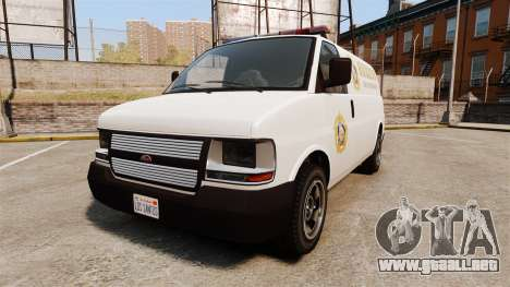 Vapid Speedo Los Santos County Sheriff [ELS] para GTA 4