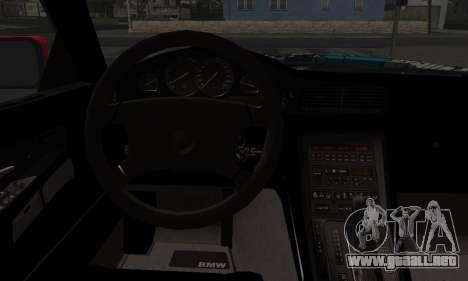 BMW M8 Custom para GTA San Andreas vista posterior izquierda