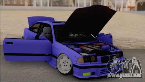 BMW M3 E36 Coupe Slammed para la visión correcta GTA San Andreas