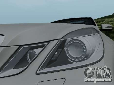 Mercedes-Benz E63 AMG para la vista superior GTA San Andreas