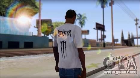 Monster Black And White T-Shirt para GTA San Andreas segunda pantalla