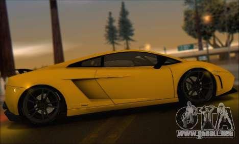 Lamborghini Gallardo LP570 Superleggera para vista inferior GTA San Andreas