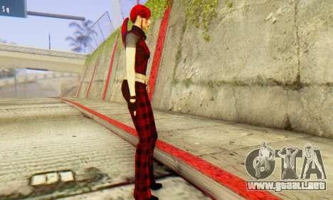 Red Girl Skin para GTA San Andreas segunda pantalla