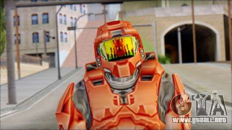 Masterchief Red from Halo para GTA San Andreas tercera pantalla