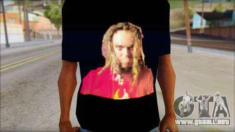 Max Cavalera T-Shirt v2 para GTA San Andreas tercera pantalla