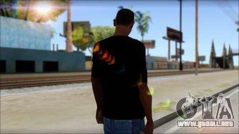 Skull T-Shirt Black para GTA San Andreas segunda pantalla