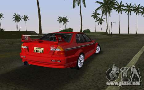 Mitsubishi Lancer Evolution 6 Tommy Makinen Edit para GTA Vice City left