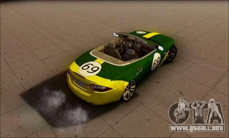 Jaguar XK 2007 para la visión correcta GTA San Andreas