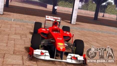 Ferrari 150 Italia para GTA 4 Vista posterior izquierda