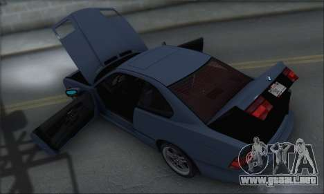 BMW E31 850CSi 1996 para la vista superior GTA San Andreas
